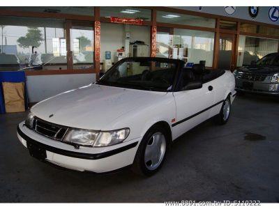 绅宝中古车,900中古车, saab 1996年 900 se 白色 软顶敞篷 高清图片